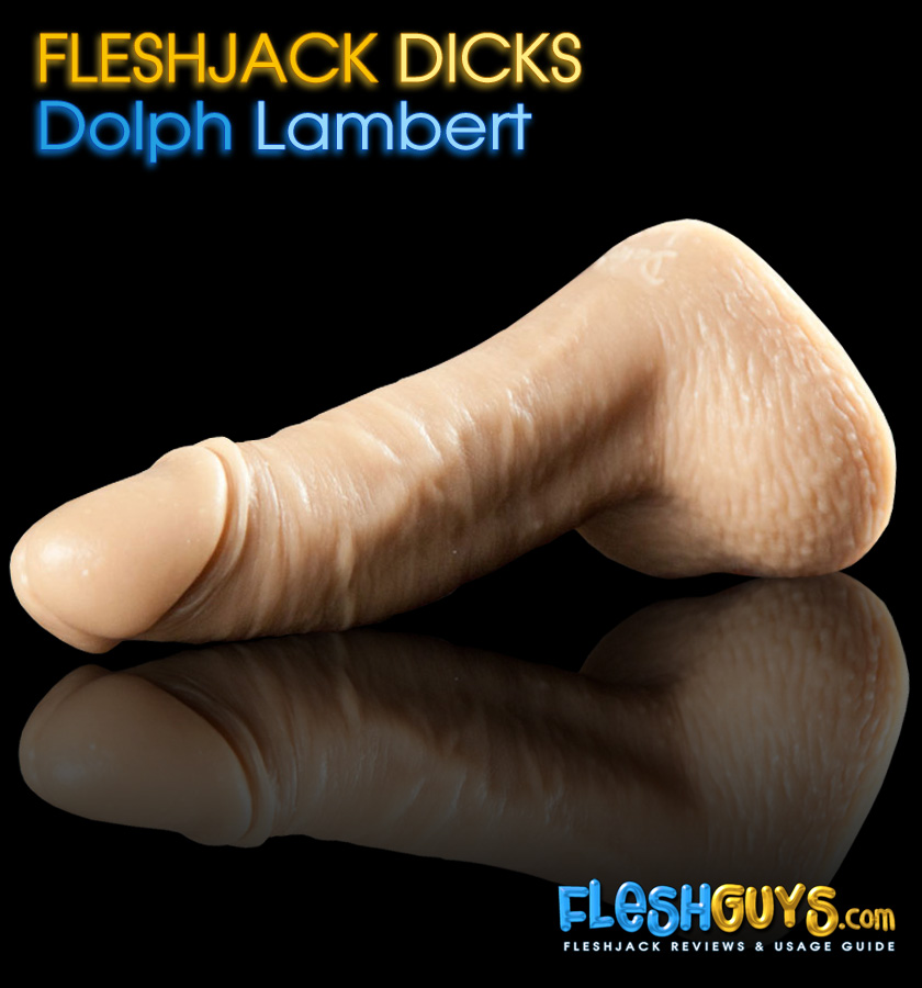 Dolph Lambert Dildo lying flat left side