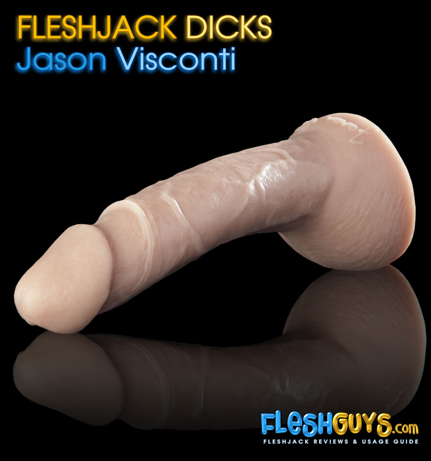 Jason Visconti Dildo lying flat left side